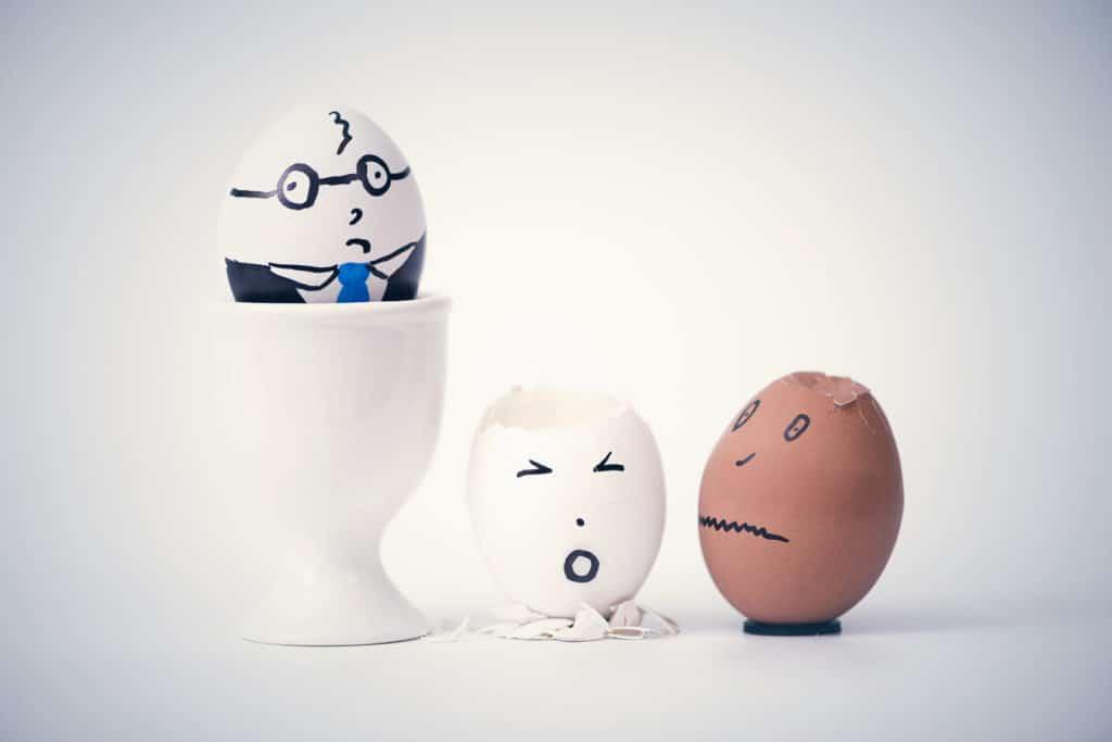 sad employees egg