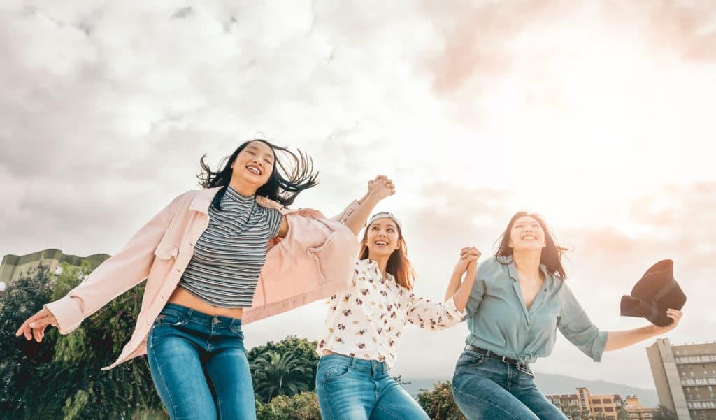 happy female employees
