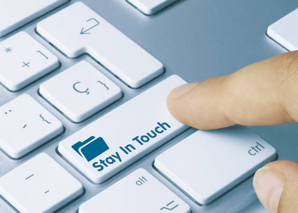 Stay In Touch Button