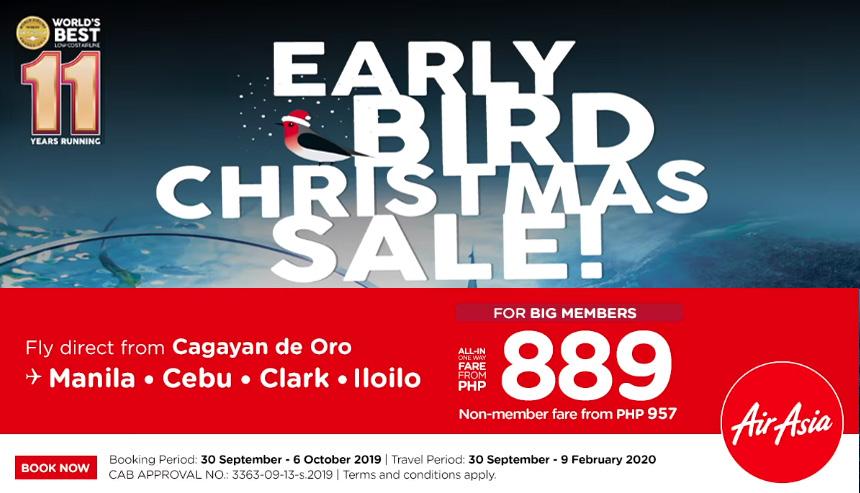 Early Bird Christmas Sale