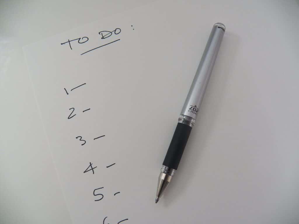 Make a detailed to-do list