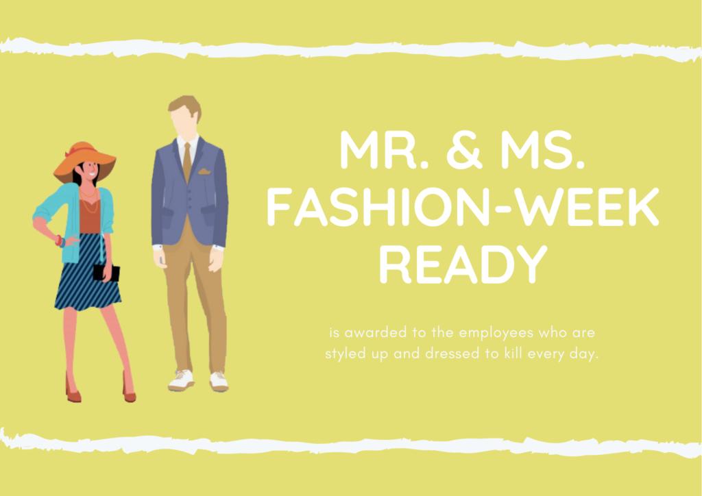 Mr. & Ms. Fashion-Week Ready