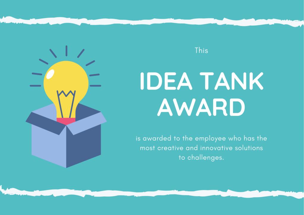 Idea Tank Award