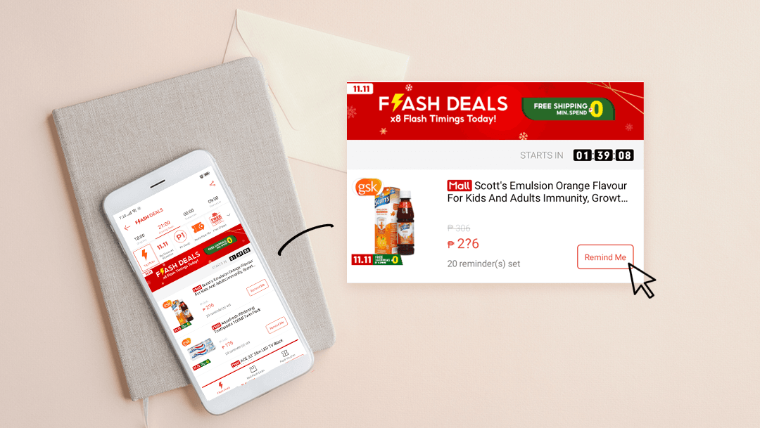 Turn on notifications for flash deals