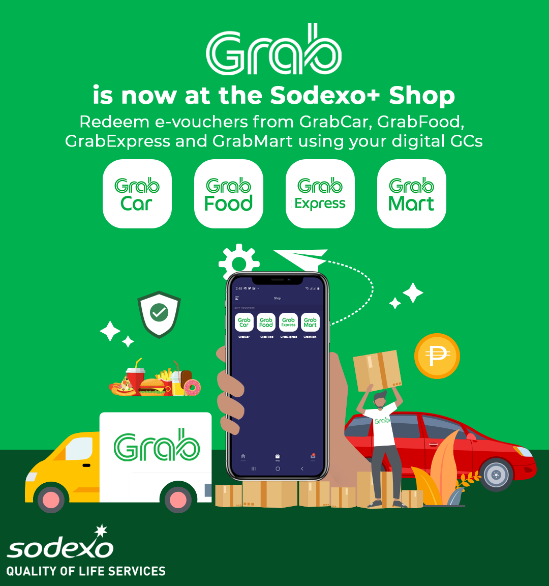 Grab is now at the Sodexo+ Shop
